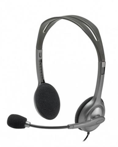 Slúchadlá s mikrofónom Logitech Stereo H111