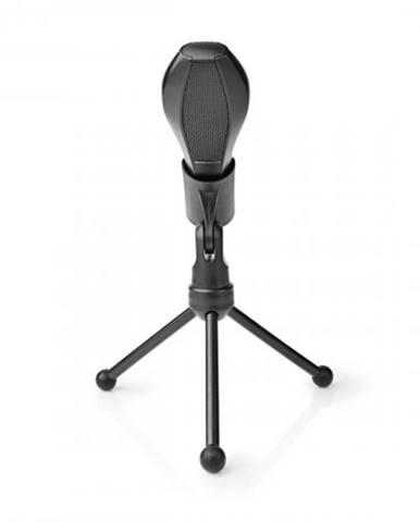 Stolný všesmerový mikrofón Nedis MICTU100BK, čierny