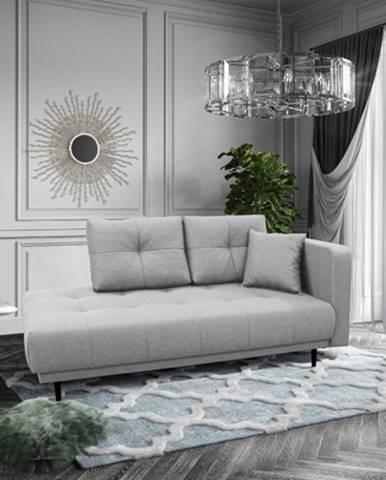 Leňoška Bony s úložným priestorom, pravá strana, sivá