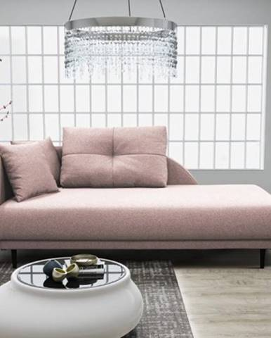 Leňoška Ize s úložným priestorom, ľavá strana, ružová