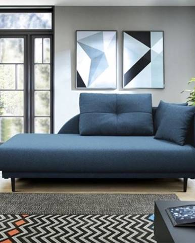 Lenoška Ize s úložným priestorom, pravá strana, modrá