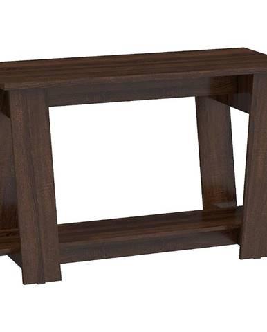 Písací stôl Via sonoma tmavý