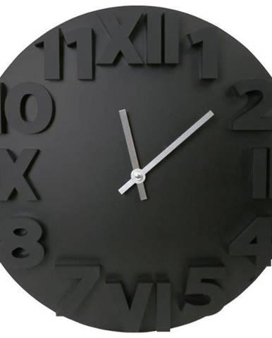 Hodiny Modern Wall Clock Black 35cm