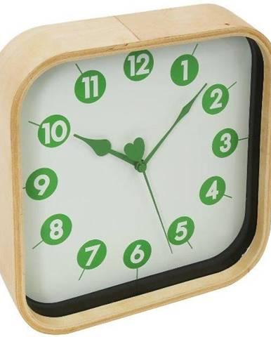 Hodiny Morning Wall Clock Green 23cmX23cm