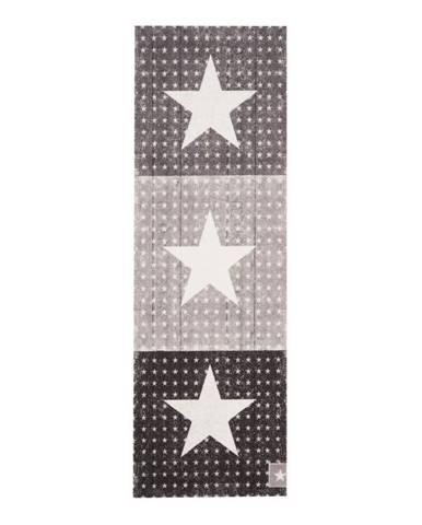 Sivo-čierny kuchynský behúň Zala Living Trio, 45×140cm