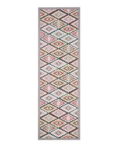 Sivý vzorovaný kuchynský behúň Zala Living Cook and Clean, 45×140cm
