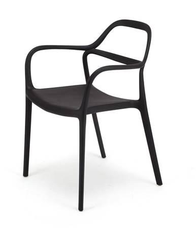 Súprava 2 čiernych jedálenských stoličiek Le Bonom Dali Chaur