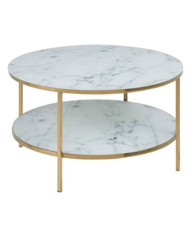 Konferenčný stôl so sklenenou doskou Actona Alisma, ⌀ 80 cm