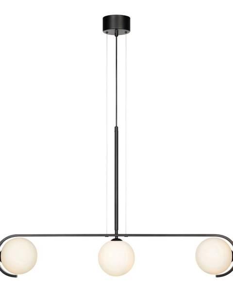 Markslöjd Čierne závesné svietidlo Markslöjd Pals Pendant Black White, 3L