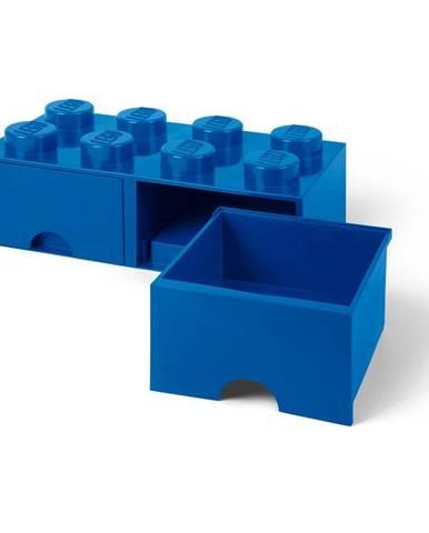 Tmavomodrý úložný box s dvoma zásuvkami LEGO®