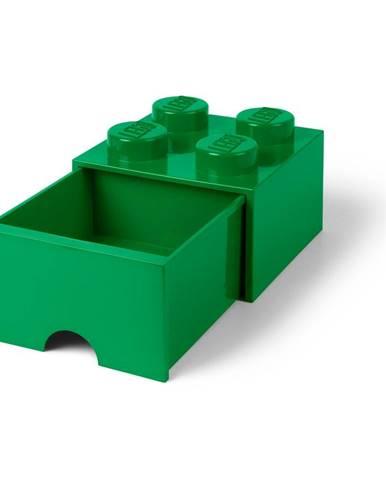 Zelený úložný box so zásuvkou LEGO®