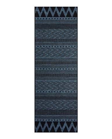 Tmavomodrý vonkajší koberec Bougari Sidon, 70 x 200 cm