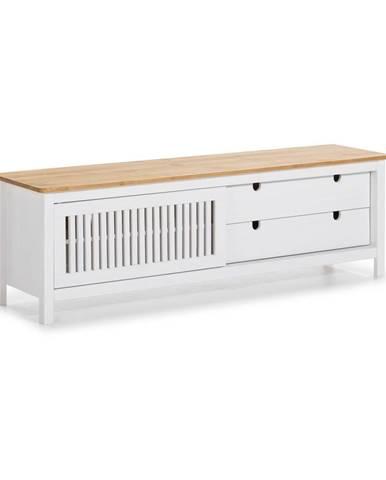 Biely drevený TV stolík Marceric Bruna