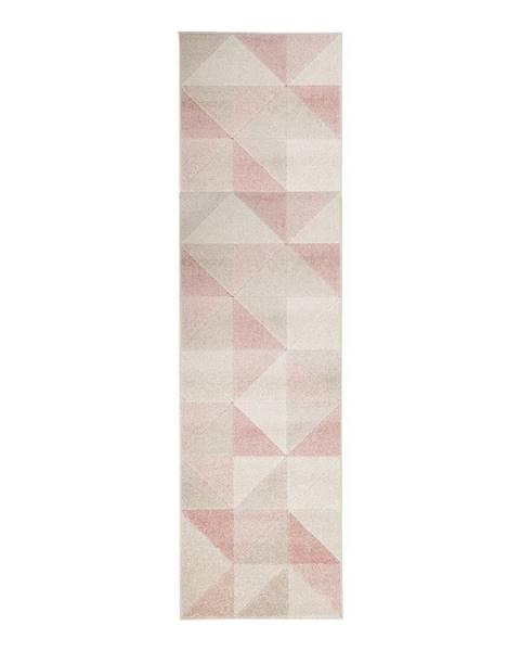 Flair Rugs Ružový koberec Flair Rugs Urban Triangle, 60 x 220 cm