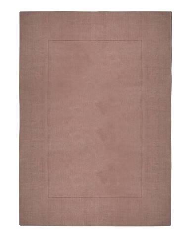 Ružový vlnený koberec Flair Rugs Siena, 160 x 230 cm