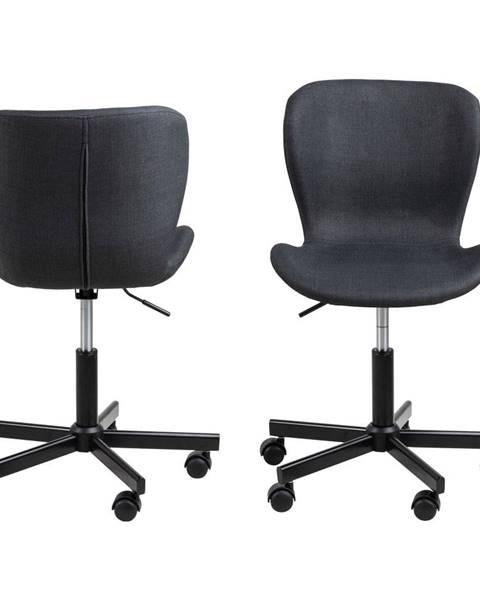Actona Čierna kancelárska stolička na kolieskach Actona Batilda