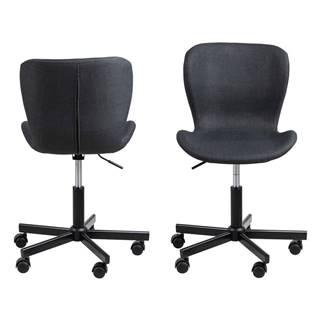 Čierna kancelárska stolička na kolieskach Actona Batilda