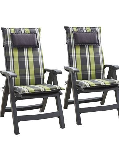 Blumfeldt Donau, čalúnená podložka, podložka na stoličku, podložka na vyššie polohovacie kreslo, na záhradnú stoličku, polyester, 50 × 120 × 6 cm