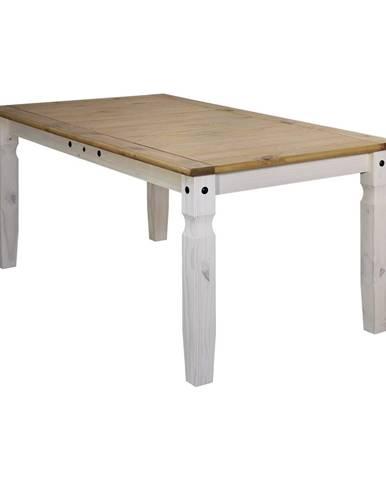 Jedálenský stôl 178x92 CORONA biely vosk