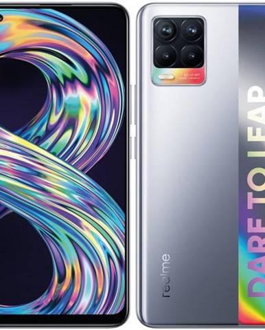 Mobilný telefón realme 8 128 GB - Cyber Silver