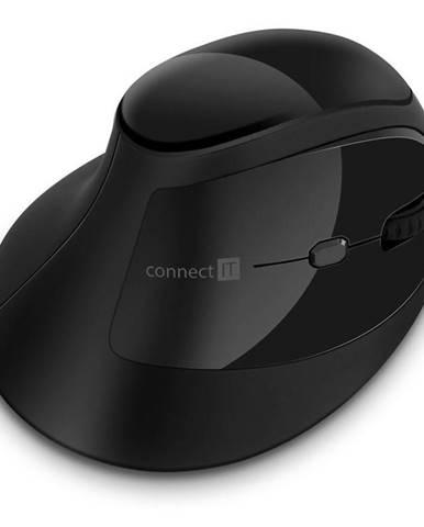 Myš  Connect IT vertikální, ergonomická čierna
