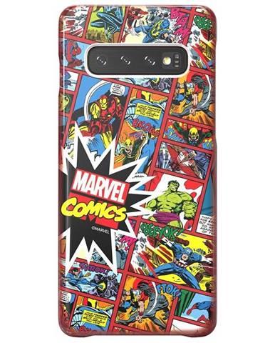 Kryt na mobil Samsung Marvel Comics na Galaxy S10 červený