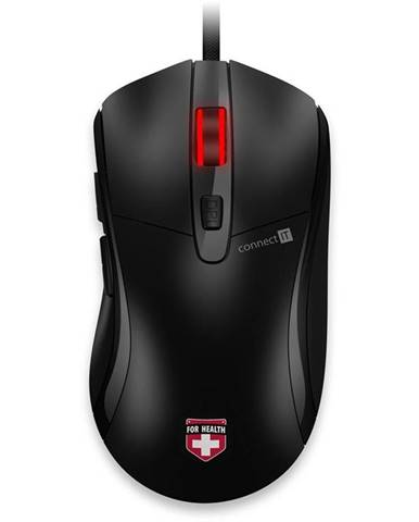 Myš  Connect IT CMO-2400-BK, vyhřívaná čierna