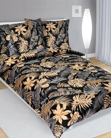 Bellatex Bavlnené obliečky Monstera , 140 x 200 cm, 70 x 90 cm