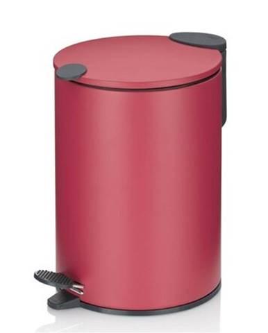 Kela Kozmetický odpadkový kôš MATS 3 l, červená