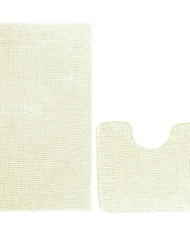 AmeliaHome Sada kúpeľňových predložiek Bati biela, 2 ks 50 x 80 cm, 40 x 50 cm
