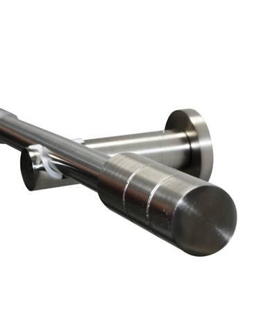 Gardinia Súprava záclonová roztiahnuteľná KRETA 19/16 mm, 120 -210 cm ušľachtilá oceľ , 120 - 210 cm