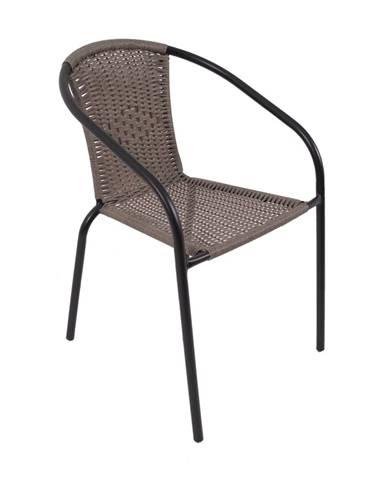 Herkules II záhradná stolička čierna