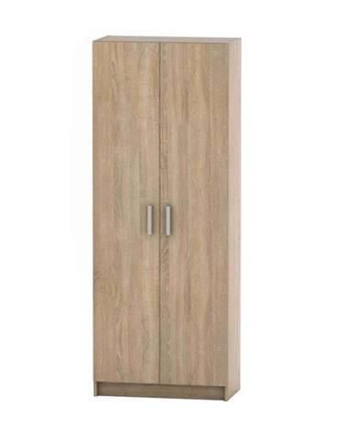 2-dverová skriňa policová dub sonoma BETTY 7 BE07-004-00
