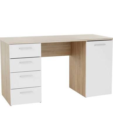 Písací stôl dub sonoma/biela EUSTACH