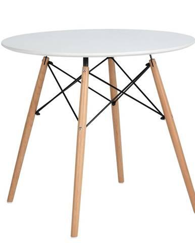 Jedálenský stôl biela matná/buk DEMIN