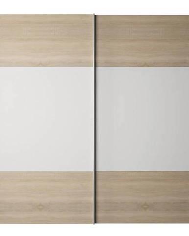 Skriňa s posúvacími dverami dub sonoma/biela GABRIELA