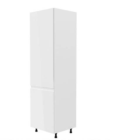 Skrinka na chladničku biela/biela extra vysoký lesk ľavá AURORA D60ZL