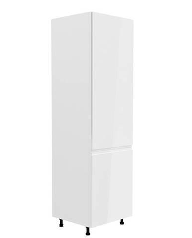 Skrinka na chladničku biela/biela extra vysoký lesk pravá AURORA D60ZL