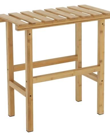 Príručný stolík k vírivke v tvare obdĺžnika prírodný bambus VIREO TYP 2 rozbalený tovar