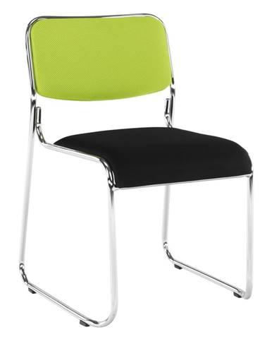 Zasadacia stolička zelená/čierna sieťovina BULUT rozbalený tovar