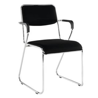 Zasadacia stolička čierna sieťovina DERYA rozbalený tovar