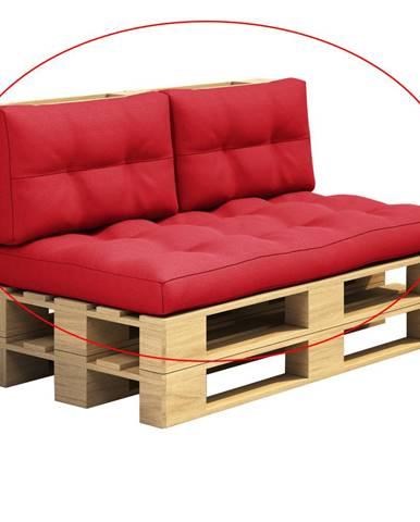 Vankúše na paletové sedenie červená ARYO
