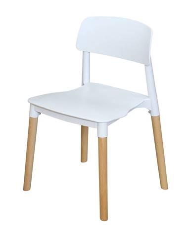 Jedálenská stolička GAMA biela