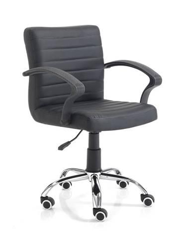 Čierna kancelárska stolička na kolečkách Tomasucci Pany