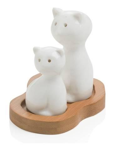 Soľnička a korenička s podnosom Brandani Cat