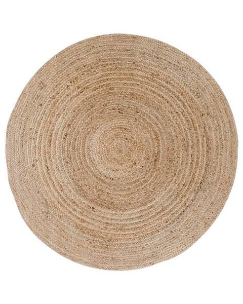 House Nordic Svetlohnedý okrúhly koberec HoNordic Bombay, ø 90 cm