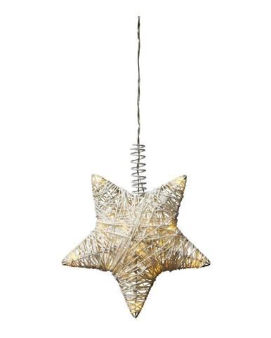 Svietiaca LED dekorácia Markslöjd Holstad Siatop, ø 24 cm