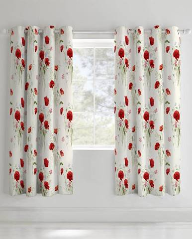 Závesy Catherine Lansfield Wild Poppies, 168x183cm