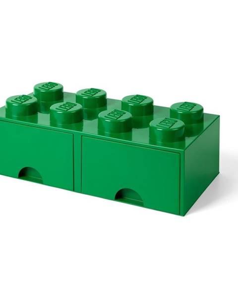LEGO® Zelený úložný box s dvoma zásuvkami LEGO®