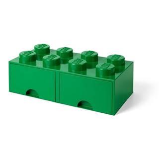 Zelený úložný box s dvoma zásuvkami LEGO®
